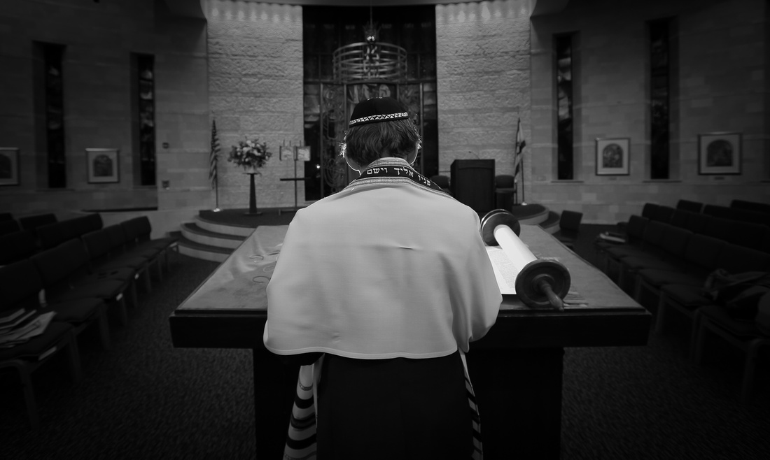 temple. bar mitzvah, balck and white